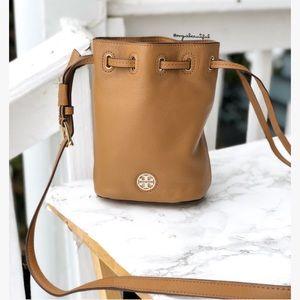 NWT Tory Burch Brody Mini Bucket Bag Bark